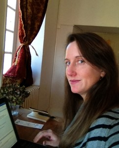 This is a selfie I took last fall during my stay at La Muse Writers' and Artists' Retreat in France.